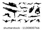 set of swimming sport... | Shutterstock .eps vector #1130800766
