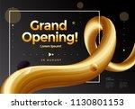grand opening poster or banner... | Shutterstock .eps vector #1130801153