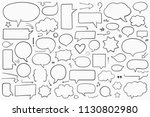 collection of hand drawn speech ... | Shutterstock .eps vector #1130802980