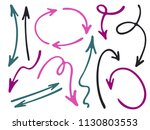 hand drawn diagram arrow icons... | Shutterstock .eps vector #1130803553