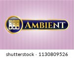 gold emblem or badge with... | Shutterstock .eps vector #1130809526
