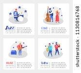 jazz concert poster  banner.... | Shutterstock .eps vector #1130816768