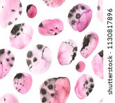 watercolor polka dots seamless... | Shutterstock . vector #1130817896