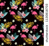 tropical cute pattern with... | Shutterstock .eps vector #1130818703