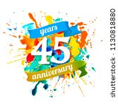forty five years anniversary.... | Shutterstock .eps vector #1130818880
