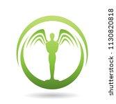 vector illustration of a green... | Shutterstock .eps vector #1130820818