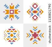 vector tribal ornament  aztec... | Shutterstock .eps vector #1130821790
