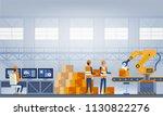 industry 4.0 smart factory... | Shutterstock .eps vector #1130822276