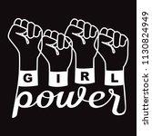 girl power t shirt fashion... | Shutterstock .eps vector #1130824949