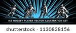 ice hockey vector player...   Shutterstock .eps vector #1130828156