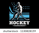 ice hockey player at the... | Shutterstock .eps vector #1130828159