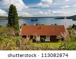 Typical Red Wooden House In...