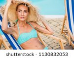 portrait of beautiful pensive... | Shutterstock . vector #1130832053