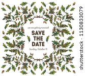 watercolor save the date card... | Shutterstock . vector #1130833079