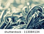 Closeup Of Industrial Chains....