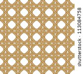 seamless wicker woven texture... | Shutterstock .eps vector #113084758