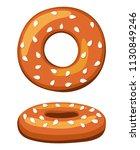 colorful cartoon german bagel...   Shutterstock .eps vector #1130849246