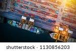 logistics and transportation of ... | Shutterstock . vector #1130856203
