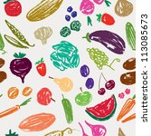 pattern with a fruit and... | Shutterstock .eps vector #113085673