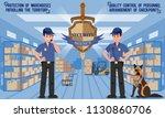 work of security agency.... | Shutterstock .eps vector #1130860706