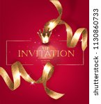 vip invitation vintage card... | Shutterstock .eps vector #1130860733