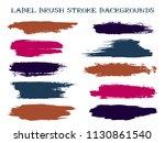isolated label brush stroke... | Shutterstock .eps vector #1130861540