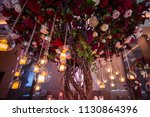 wedding decorations with... | Shutterstock . vector #1130864396