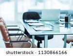 desk with the documents...   Shutterstock . vector #1130866166