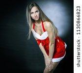 closeup.beautiful woman dressed ...   Shutterstock . vector #1130866823