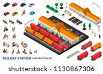 railway station construction... | Shutterstock .eps vector #1130867306