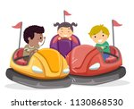 illustration of stickman kids... | Shutterstock .eps vector #1130868530