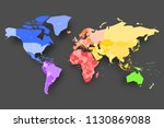 colorful map of world.... | Shutterstock .eps vector #1130869088