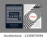 set of flyer templates with... | Shutterstock .eps vector #1130870396