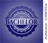 bachelor emblem with denim... | Shutterstock .eps vector #1130870516