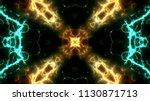 electrical lights kaleidoscope...   Shutterstock . vector #1130871713