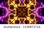 electrical lights kaleidoscope...   Shutterstock . vector #1130871716