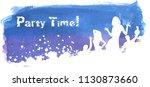 blue and purple grunge... | Shutterstock . vector #1130873660