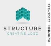 blocks structure logo | Shutterstock .eps vector #1130874866