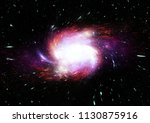 stars  dust and gas nebula in a ... | Shutterstock . vector #1130875916