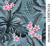 seamless floral pattern with...   Shutterstock .eps vector #1130876126