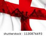football fans supporting... | Shutterstock . vector #1130876693