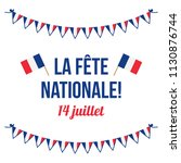 french national day  la fete... | Shutterstock .eps vector #1130876744