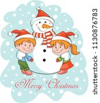 christmas character card | Shutterstock .eps vector #1130876783