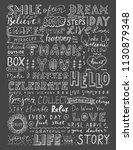 chalk vintage calligraphy set...   Shutterstock . vector #1130879348