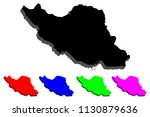 3d map of iran  islamic... | Shutterstock .eps vector #1130879636