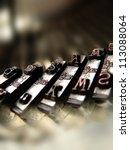 Closeup View Of Old Typewriter...