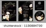 wedding invitation cards.... | Shutterstock .eps vector #1130884730