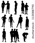 collection of silhouettes of... | Shutterstock .eps vector #113088790