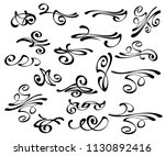 calligraphic elegant elements... | Shutterstock .eps vector #1130892416