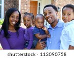 african american family...   Shutterstock . vector #113090758